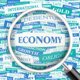 ECONOMY. Word cloud concept illustration. Wordcloud collage Royalty Free Stock Images
