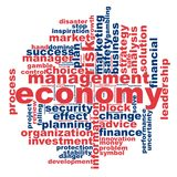 Economy word cloud. Concept on white background, 3d rendering Royalty Free Stock Images