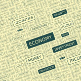 ECONOMY. Word cloud illustration. Tag cloud concept collage Royalty Free Stock Photography