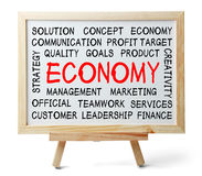 Economy Word Cloud Stock Photo
