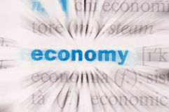 Economy word. The word economy in a dictionary royalty free stock image