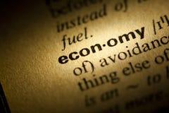 Economy. Word Economy in a dictionary stock photos