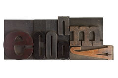 Economy, word written in letterpress type blocks Royalty Free Stock Photo