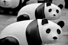 Ecopanda in Shanghai wordt voorgesteld dat Royalty-vrije Stock Foto