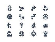 Ecopictogrammen Stock Afbeeldingen