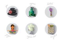 Ecopictogrammen royalty-vrije illustratie