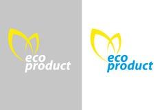 Ecoproduct van het embleem Royalty-vrije Stock Afbeeldingen