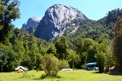 Ecoregion das florestas úmidas temperadas de Valdivian no Patagonia do sul do chileno do Chile imagens de stock