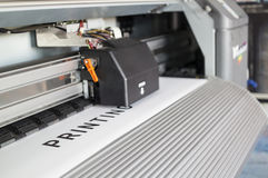 Ecosolvent printer Stock Images