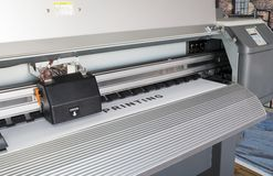 Ecosolvent printer Royalty Free Stock Images