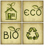 ecosymbol Royaltyfri Bild