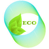 ecosymbol royaltyfri illustrationer