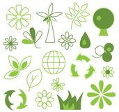 ecosymboler Vektor Illustrationer
