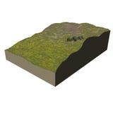 Ecosystem terrain heathery Stock Images