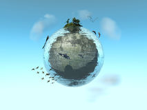 Ecosystem. Water Planet with its ecosystem Stock Images