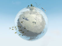 Ecosystem. Water Planet with its ecosystem Royalty Free Stock Photography