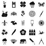 Ecoterrorist icons set, simple style. Ecoterrorist icons set. Simple set of 25 ecoterrorist vector icons for web isolated on white background Royalty Free Stock Photos