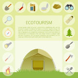 Ecotourism banner Stock Images