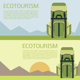 Ecotourism banner Stock Photo