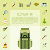 Ecotourism banner Royalty Free Stock Photography