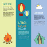 Ecotourism flyer, poster. Vector illustration Stock Image