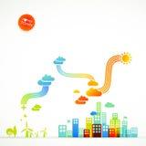 Ecotown - kreative Abbildung stock abbildung