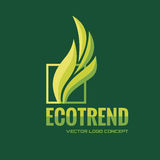 Ecotrend - vector logo template concept illustration. Nature leaves abstract sign. Bio product symbol. Design element Royalty Free Stock Photography