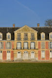 Ecouis Frankrike - marsch 15 2016: den Mussegros slotten Arkivfoto