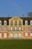 Ecouis Frankrike - marsch 15 2016: den Mussegros slotten Fotografering för Bildbyråer