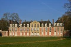 Ecouis Frankrike - marsch 15 2016: den Mussegros slotten Arkivbild