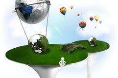 ecovärld Arkivfoto