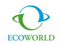 ecoworld徽标 库存图片