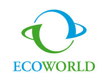 Ecoworld Zeichen Stockbild