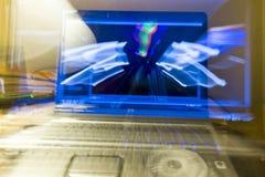 Ecrã de computador abstrato Fotos de Stock Royalty Free