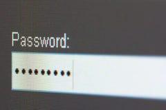 Ecrã de computador da senha Fotos de Stock