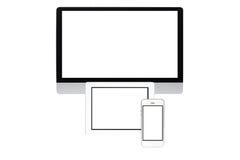 Ecrã de computador isolado Imagens de Stock Royalty Free