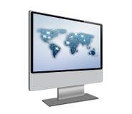 Ecrã de computador isolado no fundo branco Imagem de Stock