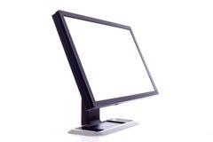 Ecrã de computador no branco fotografia de stock