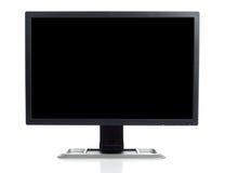Ecrã de computador no branco fotos de stock