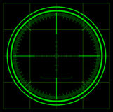 Ecrã de radar ilustração royalty free
