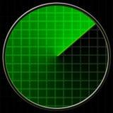 Ecrã de radar Foto de Stock