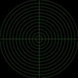 Ecrã de radar verde Fotos de Stock
