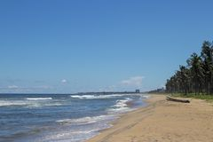 ECR Chennai da praia das férias de verão imagens de stock