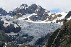 Glacier in Ecrins National Park, French Hautes Alpes royalty free stock photos