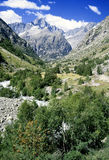 The ecrins valley the french a Royalty Free Stock Photo