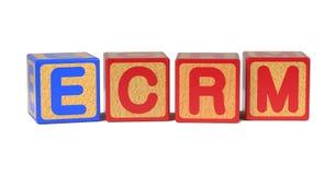 ECRM - Blocos do alfabeto das crianças coloridas. Fotos de Stock Royalty Free