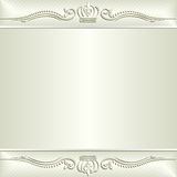 Ecru background. With floral ornaments Royalty Free Stock Photos