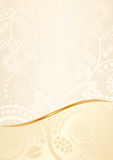 Ecru background. With floral ornaments Royalty Free Stock Photography