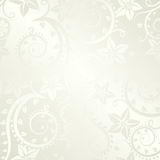 Ecru background. With floral ornaments Royalty Free Stock Images