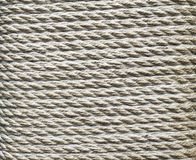 Ecru thick rope wrapped around a pillar Stock Photography